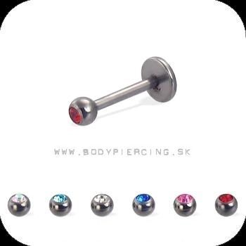 piercing do brady - pery :: LABRET :: color zirkon small