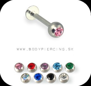 piercing do brady - pery :: LABRET :: color zirkon xlarge