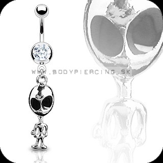 piercing do pupku :: BELLY BUTTON RING :: dangling alien