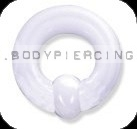 piercing do ucha  :: CAPTIVE BEADRING  :: acryl white hardware