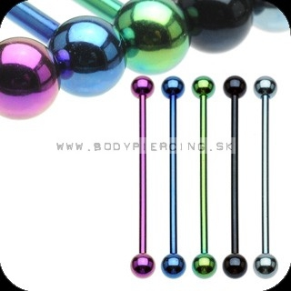piercing do ucha:: INDUSTRIAL BARBELL:: anodised color
