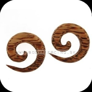 piercing do ucha :: ORGANIC COCO TAPER :: spiral cocowood