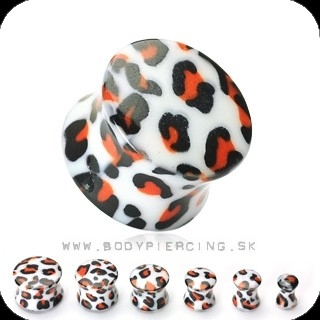 piercing do ucha :: ACRYL SADDLE PLUG :: leopard print