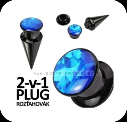 piercing do ucha:: TAPER & PLUG 2v1 :: blue prism