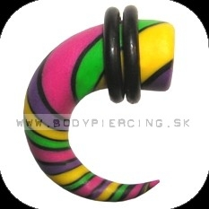 piercing do ucha  :: HOLE EXPANDER  :: roztahovak fimo R036