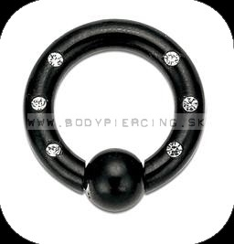 piercing do ucha  :: CAPTIVE BEADRING  :: blackline zirkon